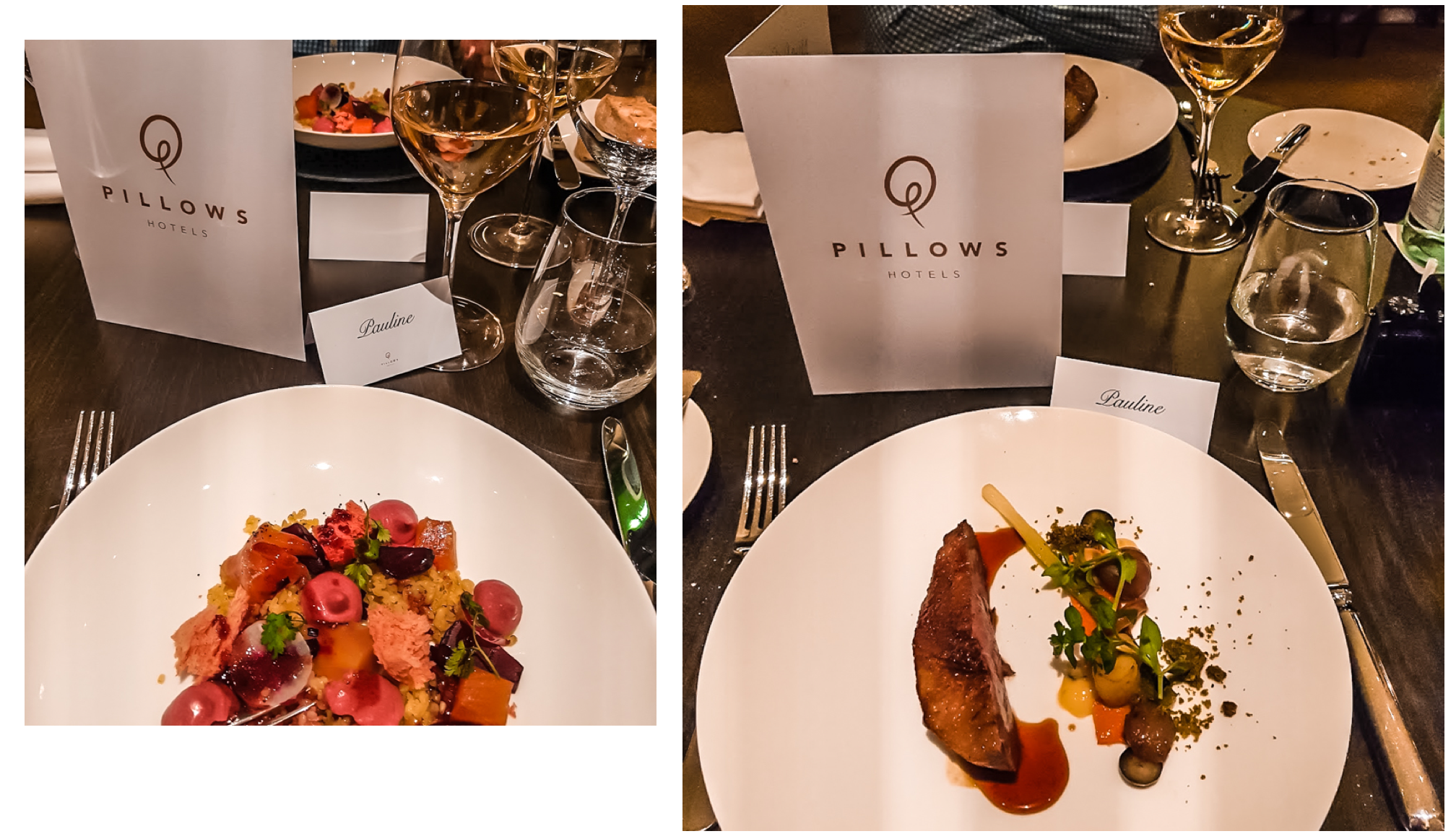 Pillows hotel place rouppe dinner