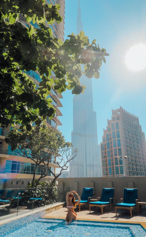 Dream inn Dubai pool view