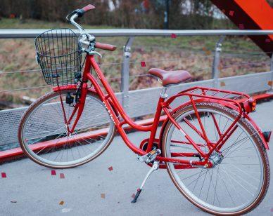 Rode stadsfiets van Ortler Copenhagen